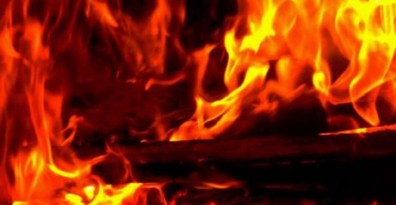 Fire destroys property worth thousands of cedis
